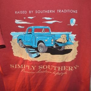Simply Southern small pickup truck and dog tee